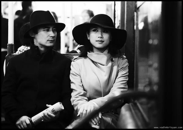 Couple in MTA Vintage Train, New York, 2015