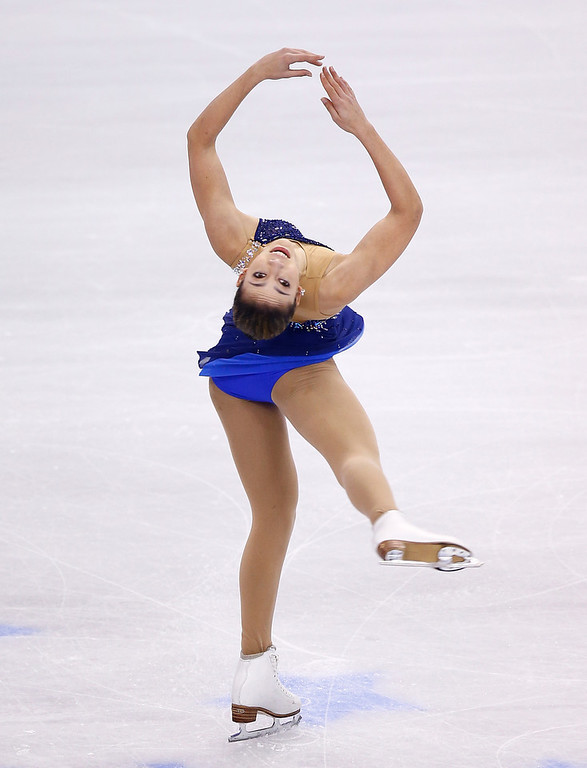 . Angela Wang competes in the free skate program during the 2014 Prudential U.S. Figure Skating Championships at TD Garden on January 11, 2014 in Boston, Massachusetts.  (Photo by Jared Wickerham/Getty Images)