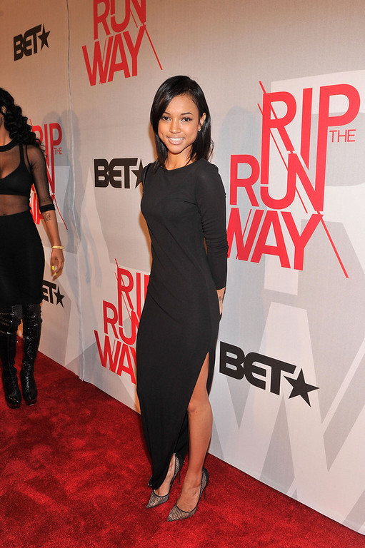 . Model Karrueche Tran attends BET\'s Rip The Runway 2013:Red Carpet at Hammerstein Ballroom on February 27, 2013 in New York City.  (Photo by Stephen Lovekin/Getty Images for BET\'s Rip The Runway)