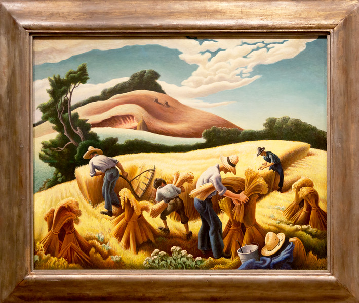 "Thomas Hart Benton: ""Cradling Wheat, 1938"""