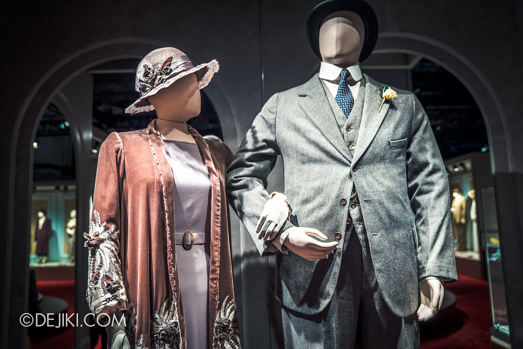 Downton Abbey The Exhibition - Mrs Hugh's and Mr Carson's Wedding outfits