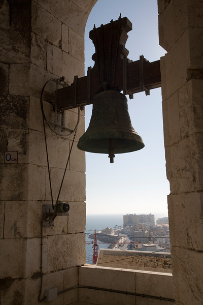 One of the bells of the west tower of Cadiz Cathedral, Spain
