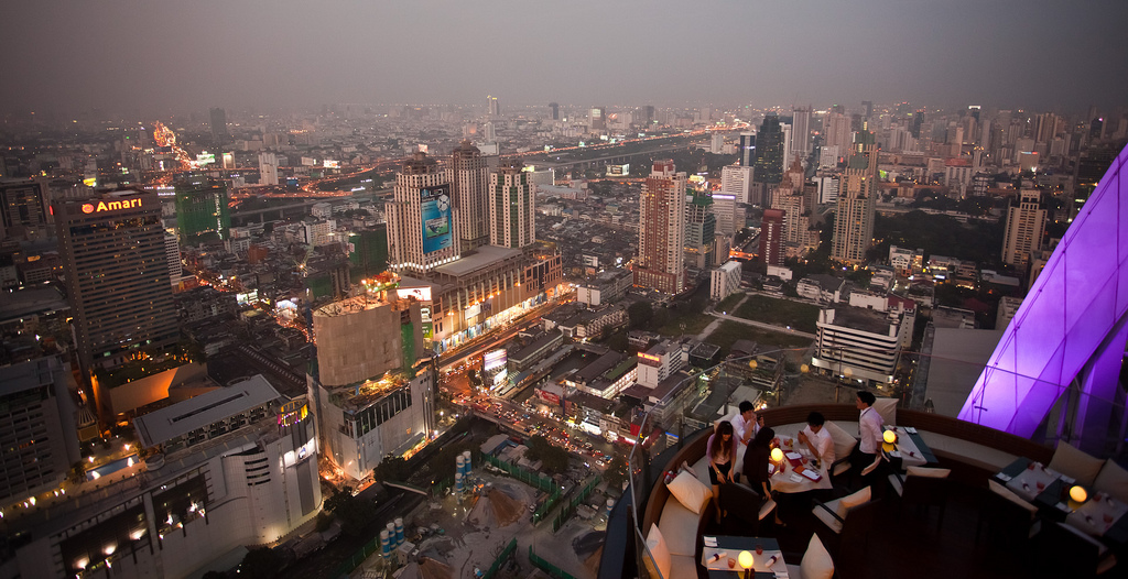 View from Red Sky bar at Centara Grand Bangkok
