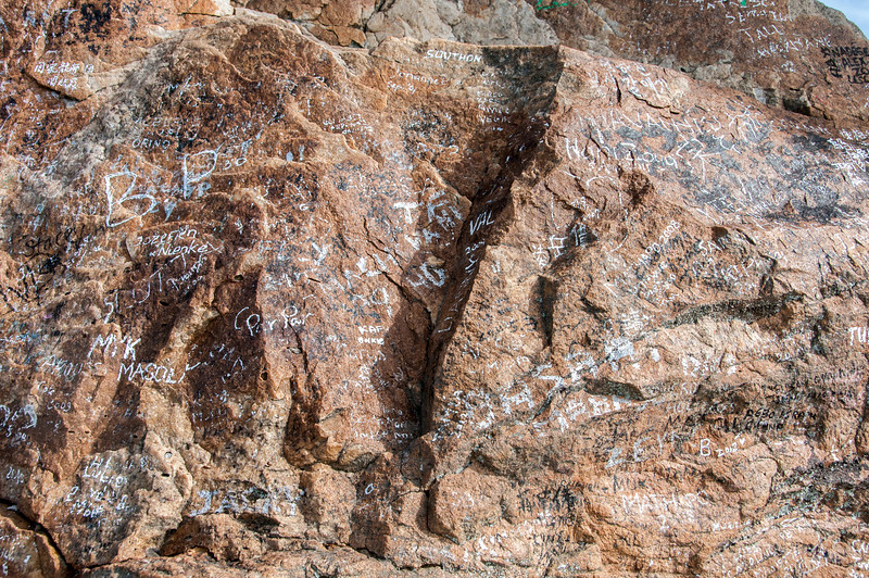 Writings on the rocks at Cape of Good Hope, South Africa