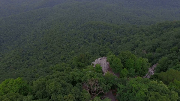 Aerial of Caesars Head State Park in South Carolina