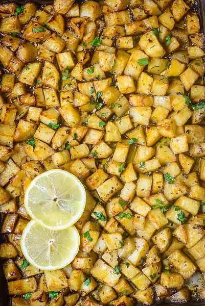 Vegan Greek Food - Greek Potatoes