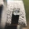.54ctw Asscher Cut Diamond Bezel Stud Earrings, Platinum 14