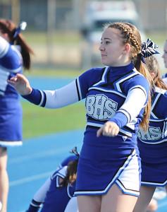 Varsity Cheerleaders 2013 Football vs Quincy