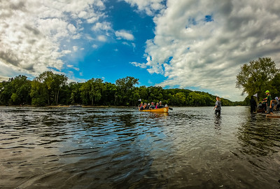 Boat Wrangling 2019 Great River Race with Wilderness Inquiry