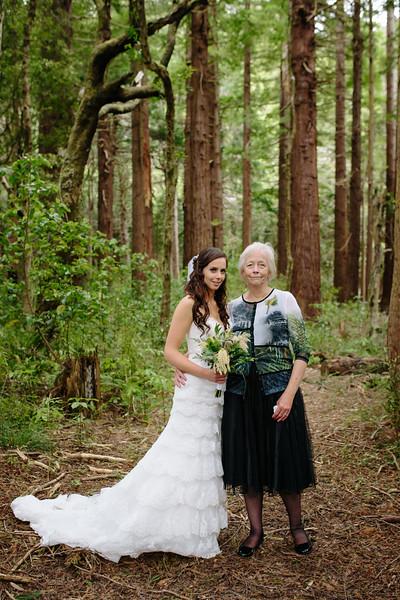 Bride and Mother portrait