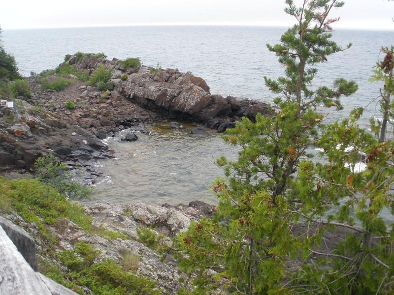 Lake Superior shore at Eagle Harbor