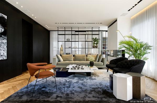 דירה באזור המרכז, תכנון ועיצוב אדריכלי: כפיר אזולאי גלאטיה