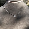 0.48ct 18kt White Gold Rose Cut Bezel Pendant 12