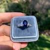 2.08ctw Sapphire and Diamond Ring, GIA No-Heat 17