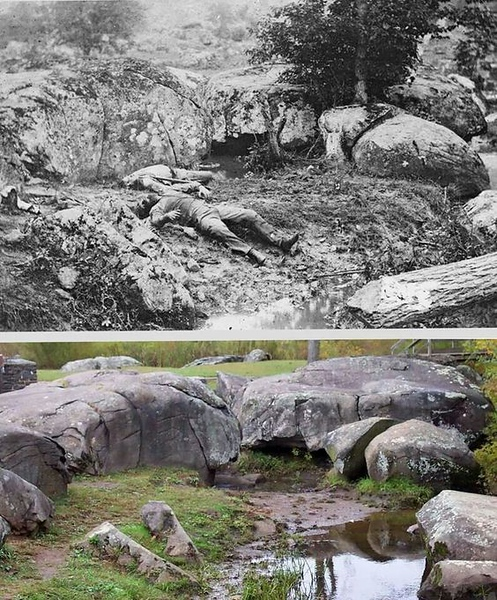 Slaughter Pen.  Foot of Little Round Top