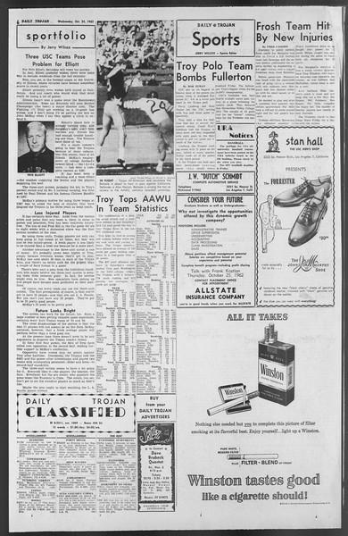 Daily Trojan, Vol. 54, No. 22, October 24, 1962
