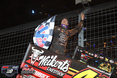 'Last Call' World Of Outlaws Sprint Car Series - The Dirt Track At Charlotte - 11/6/20 - Michael Fry