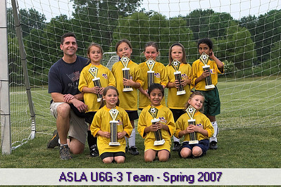 Spring 2007 - Avon Girls U6 Soccer - Team 3 - Final