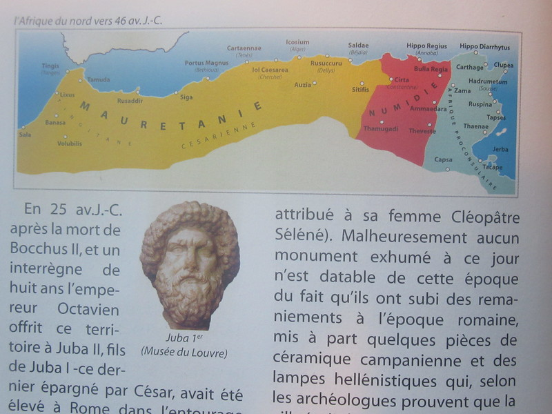 005_La Grande Maurétanie. 40 avant J.C. Aujourd'hui cela serait les pays suivants, Maroc, Sahara Occidental, Maurétanie et Algérie.JPG