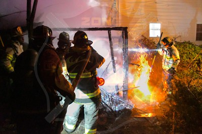 Wyandanch Fire Co. Signal 13  Shed Fire   Brown Blvd. 12/9/20