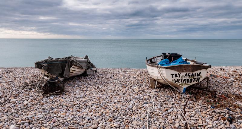 Boats on Chesil Beach