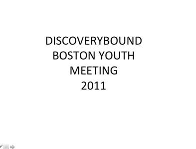 2011 Boston Youth Meeting