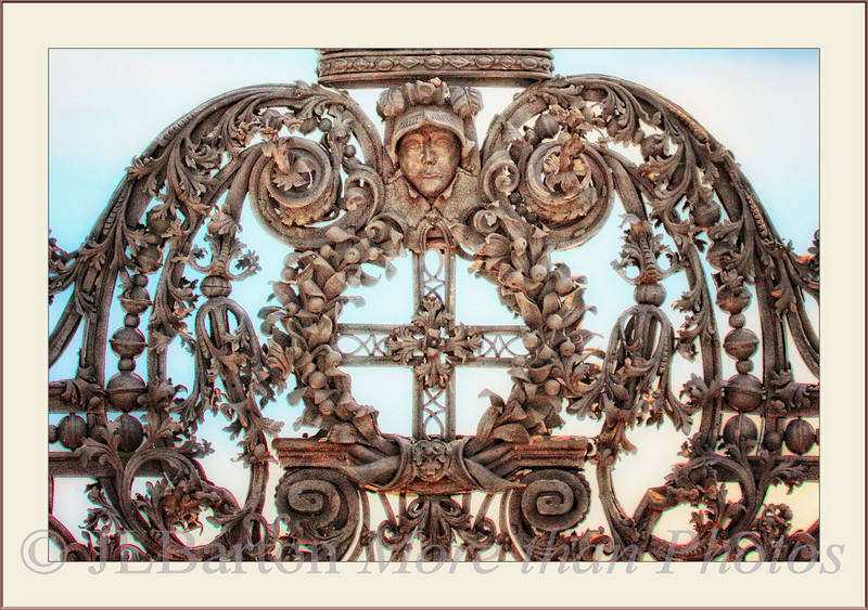 Royal Gate Iron filigree work as part of a large gate leading from the palace and upper grounds to the lower gardens
