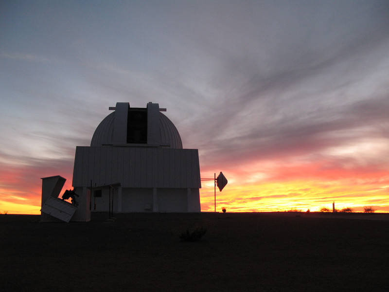 Sunset with the 1.5m telescope