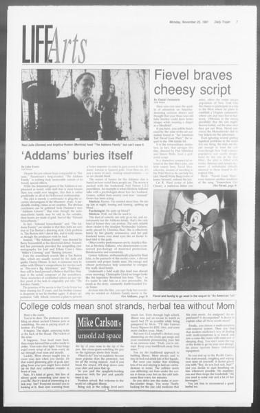 Daily Trojan, Vol. 116, No. 59, November 25, 1991
