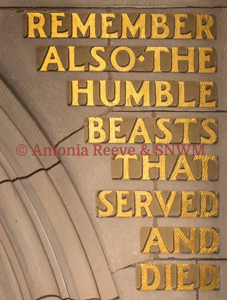 Carving - Remember also the humble beasts that served and died