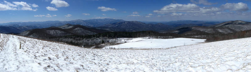 Max Patch summit panorama, from north to south...