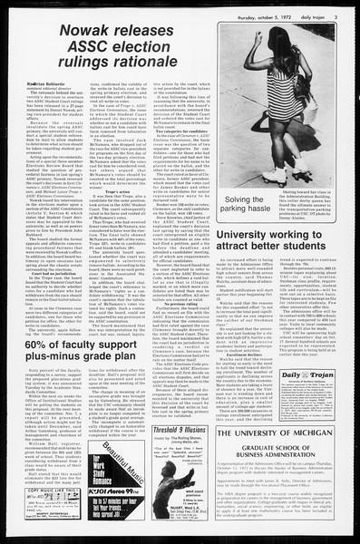 Daily Trojan, Vol. 65, No. 14, October 05, 1972
