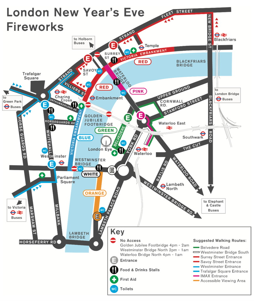 London New Year's Eve Fireworks Guide by Wilhelm Chang