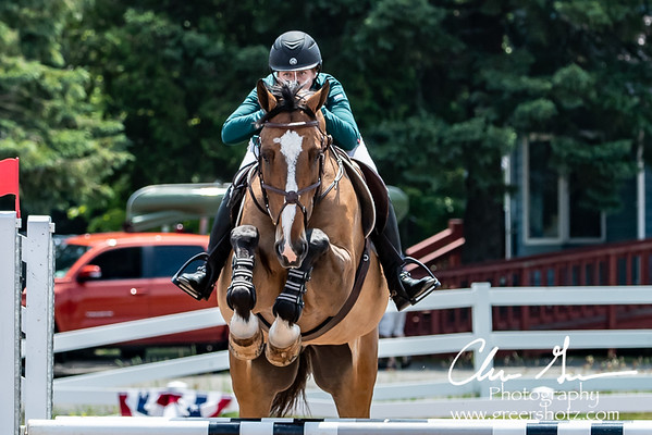 Deborah Imperatore on Daisy Chain VT at Lake Placid Horse Show 2018