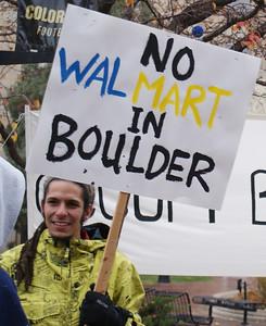 Anti Walmart Protest Boulder 11/10/12