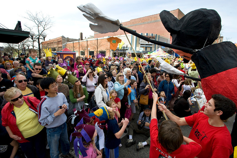 Festifools parade.  (Photo by Mark Bialek)