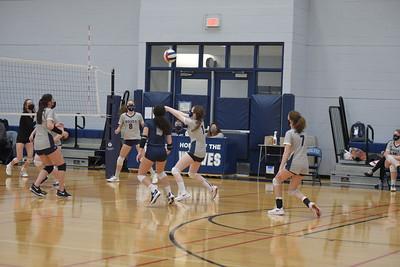 OE Girls fresh. Volleyball Vs Yorkville 2021