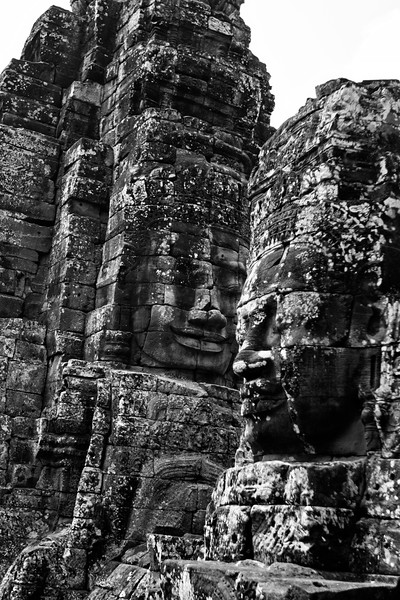 Bayon is the home of a huge number of carvings of the same face, staring out from all over the temple. Learn more about it  here