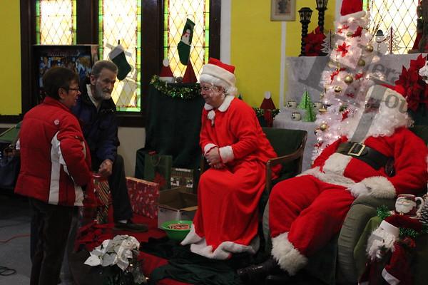 Santa and Mrs Claus stopped at the  Howard Lake Lions Club!