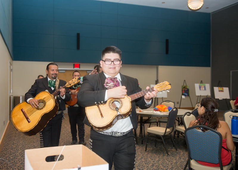 Students and faculty attending the PASS Hispanic Heritage Month event were treated to mariachi music by the Mariachi Mexicanisimo group.