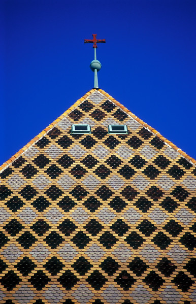 Tiled Roof of St. Stephen's Cathedral, Vienna, Austria