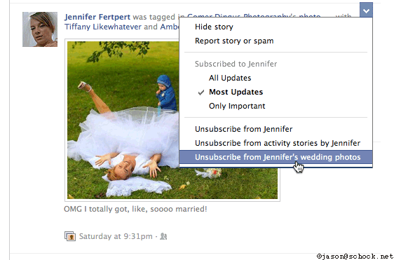 Unsubscribe from crazy wedding photos