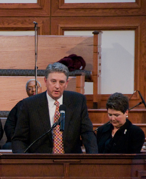 J. Doyle Fuller, attorney in Montgomery, Alabama with wife Becky standing beside him. sh