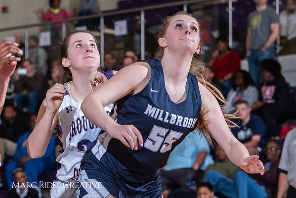 Broughton girls varsity basketball vs Millbrook. February 15, 2019. 750_7358