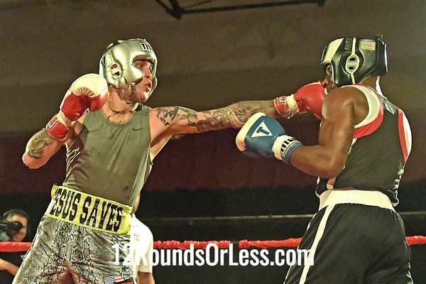 Bout 10 Rich Cantolina, Red Gloves, Citie Park 51 BC, Pittsburgh, PA -vs- Elmer Davis, Blue Gloves, 152 Lbs