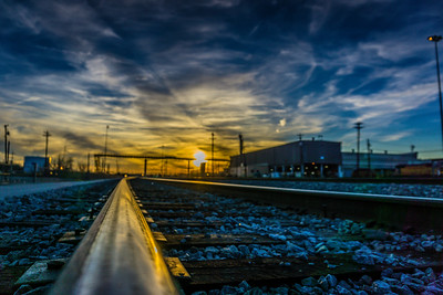 2018-02-08 Train Yard Sunset Fort Worth Texas