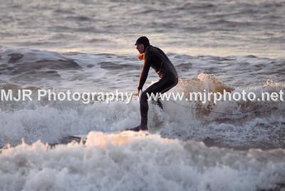 Surfing, Gilgo Beach, NY, (10-31-06)