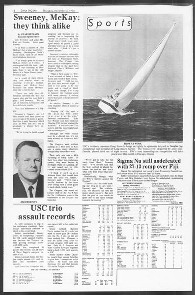 Daily Trojan, Vol. 62, No. 32, November 05, 1970