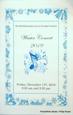 2019 Winter Concert @ Hill Elementary School