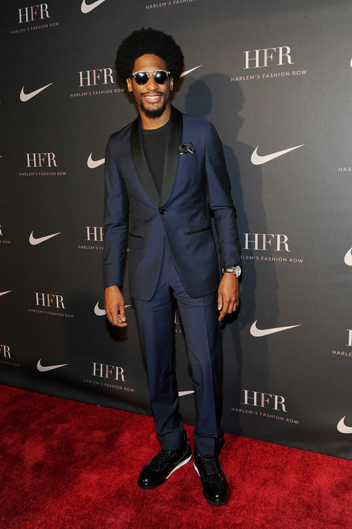 . Musician Jon Batiste attends a fashion show and awards ceremony held by the Harlem Fashion Row collective and Nike before the start of New York Fashion Week, Tuesday, Sept. 4, 2018. (AP Photo/Diane Bondareff)